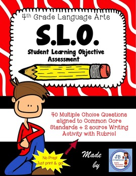4th Grade Language Arts SLO (Student Learning Objective) A