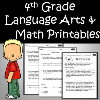 4th Grade Language Arts and Math Review Distance Learning Google Classroom