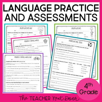 4th Grade Language Assessments and Practice Pages