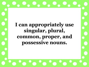 """4th Grade Language Common Core """"I Can"""" Posters"""