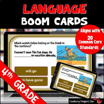 4th Grade Language Digital Boom Cards