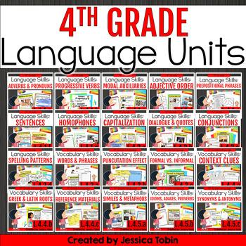 4th Grade Language Domain GROWING Bundle