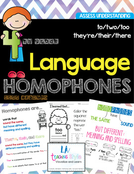 Homophones (to/two/too/their/they're/there) - CCSS