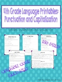 4th Grade Language Printables: Capitalization and Punctuation