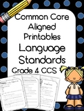 4th Grade Language Printables and Assessments (Common Core Aligned)