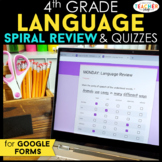 4th Grade Language Spiral Review BUNDLE | Google Classroom