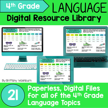 4th Grade Language Standards Digital Resource Library