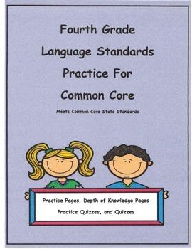 Bundled Set 4th Grade Language L4.1a - L4.2b Practice Pgs.
