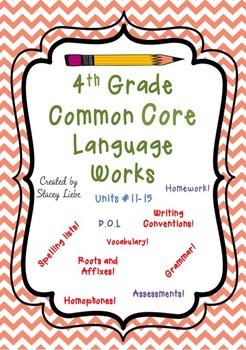 4th Grade Language Works Bundle 3