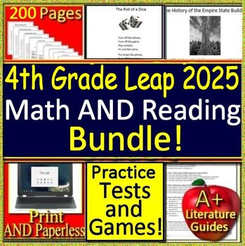 4th Grade Leap 2025 Reading and Math Bundle! Practice ...