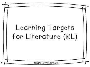 4th Grade Learning Targets