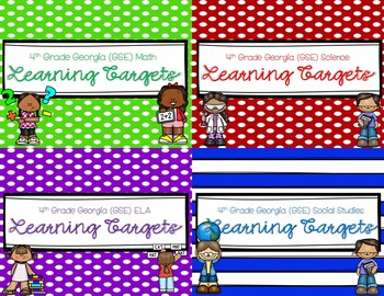 4th Grade Learning Targets (Georgia Standards of Excellence)