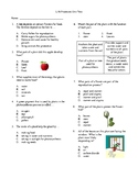 4th Grade Life Process (plant) Unit Test