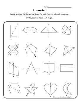 4th Grade:Lines of Symmetry for Two-Dimensional Figures