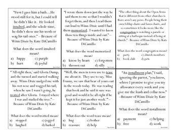 Literacy Based Context Clues: 60 Task Cards for Grade 4