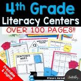 4th Grade Literacy Centers   Printables + Google Slides EL