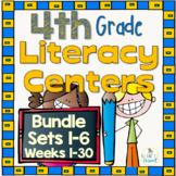 4th Grade Literacy Centers Bundle,  Sets 1- 6