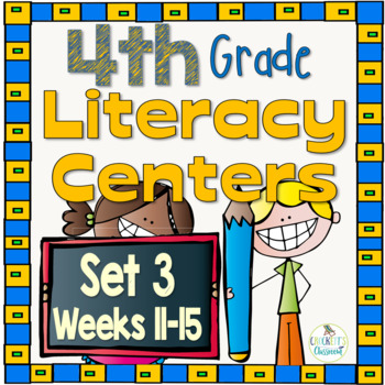 4th Grade Literacy Centers Set 3, {Aligned with Journeys by HMH}