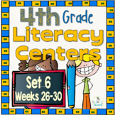 4th Grade Literacy Centers Set 6, {Aligned with Journeys by HMH}