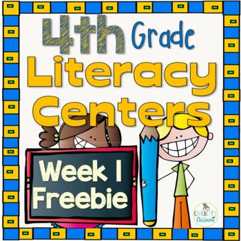 4th Grade Literacy Centers Week 1 Free Sample