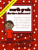 4th Grade Literature Choice Board with Graphic Aids- Task Card Option Included