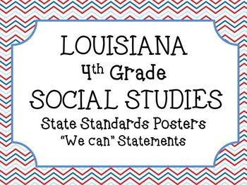 4th Grade Louisiana Social Studies Standards Posters