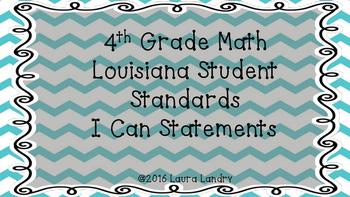 4th Grade Louisiana Math Student Standards