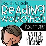 4th Grade Lucy Calkins Reading Workshop Journal, Unit 3