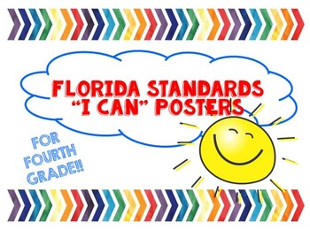 "MAFS ""I Can"" Posters (Florida Standards for 4th grade Math)"