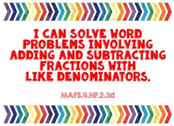 """MAFS """"I Can"""" Posters (Florida Standards for 4th grade Math)"""