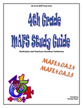 4th Grade MAFS Study Guide- Multiples and Factors/Number Patterns