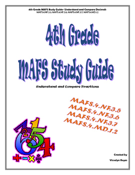 4th Grade MAFS Study Guide-Understand and Compare Decimals