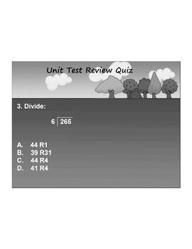 4th Grade MATH ActivInspire 10 question Assessment 4.NBT.B.5, 6, 4.OA.B.4, +
