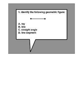 4th Grade MATH ActivInspire 10 question Assessment Geometry 4.G.A.1,2