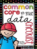 {4th Grade} MATH Common Core Data Checklist