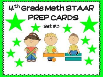 4th Grade MATH STAAR TASK CARDS SET #3
