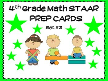 4th Grade MATH STAAR TASK CARDS SET #3