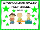 4th Grade MATH STAAR TASK CARDS - SET #3