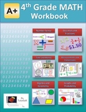 """A+ Math"" 4th Grade Math Workbook (Worksheets, Exams and A"