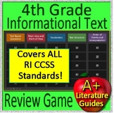 4th Grade MCA Test Prep Reading Informational and Non-Fiction Review Game