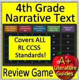 4th Grade MCA Test Prep Reading Literature and Narrative Review Game