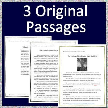 4th Grade MCAS Reading ELA Test Prep Practice Tests Bundle for Massachusetts