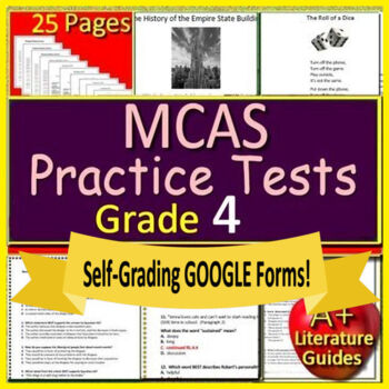 4th Grade MCAS Reading ELA Test Prep Practice Massachusetts 2019 Format Google