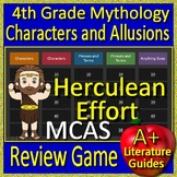 4th Grade MCAS Test Prep Greek Mythology Allusions Review Game