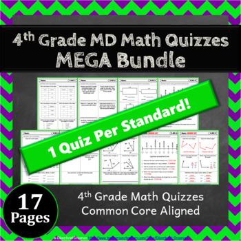 4th Grade MD Quizzes: 4th Grade Math Quizzes, Measurement & Data