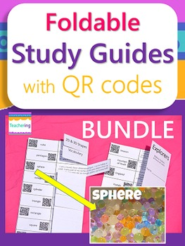 4th Grade BUNDLE {Study Guides & Task Cards with QR codes}