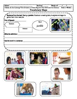 4th Grade MacGraw-Hill Reading Unit 3 Vocabulary Map, Illustration/Photographs