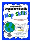 4th Grade Map Skills Content Specific Vocabulary Activity Pack (Ohio Model)