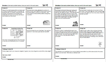 Daily Problem Solving for 4th Grade: March Word Problems (Multi-step)