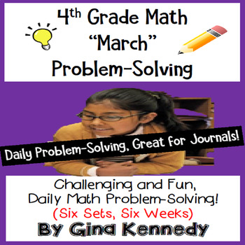 Daily Problem Solving for 4th Grade: March Word Problems (